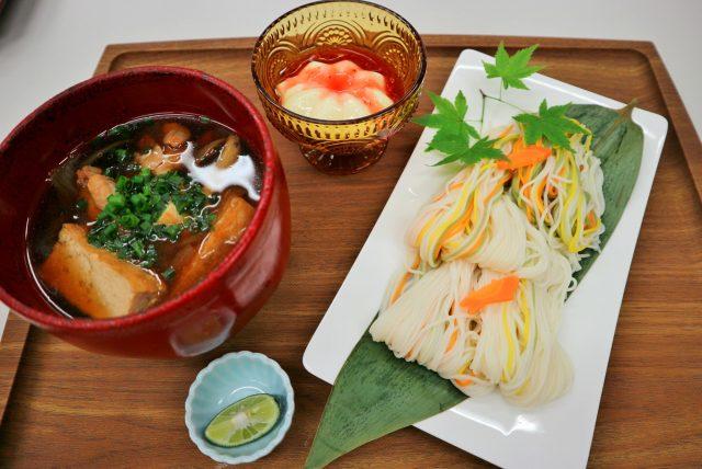 調理コンテスト全国第3位 福岡糸島ご当地料理 そうめんちり・豆乳ブランマンジェ
